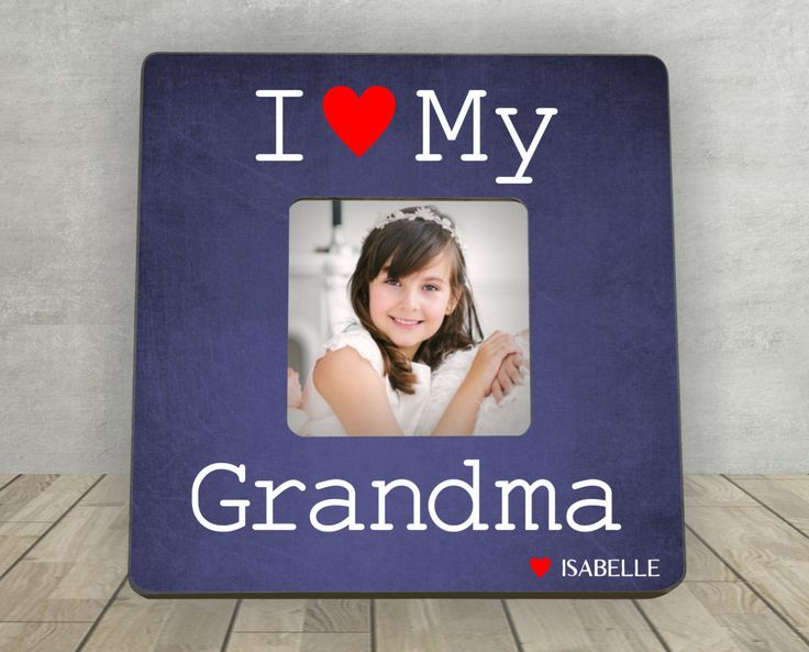 Gift for Grandma, Christmas Gift for Grandma, Personalized Picture Frame, I Love My Grandma, Personalized Photo Frame, Grandma Picture Frame by EnchantedHillStudios on Etsy