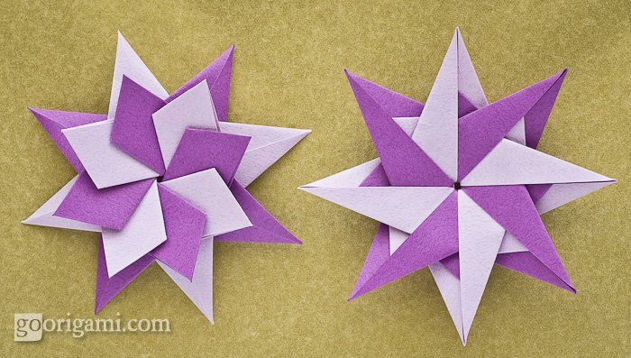 Enrica Dray Origami Star  1.) http://www.flickr.com/photos/50612995@N02/6543158731/in/photostream/ and 2.) http://www.flickr.com/photos/50612995@N02/6543161017/