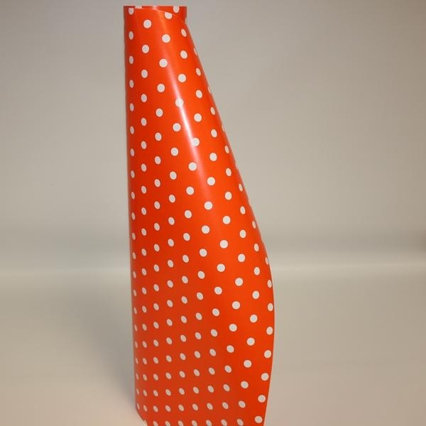 Orange and White Polka Dot Gift Wrap
