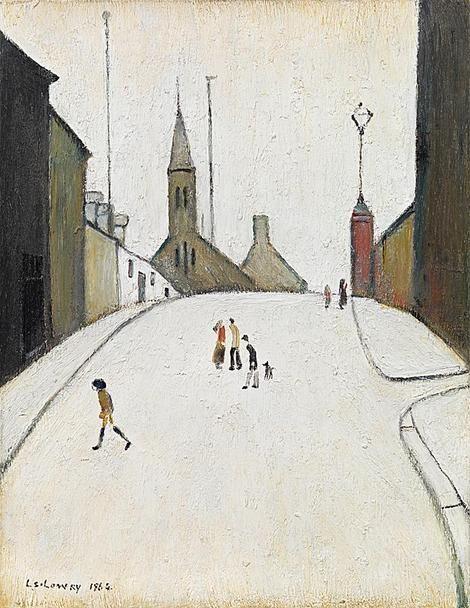 LS Lowry, Church Street, Clitheroe on ArtStack #ls-lowry #art
