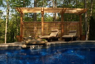 Pool fencing design pictures remodel decor and ideas for Pool screen privacy