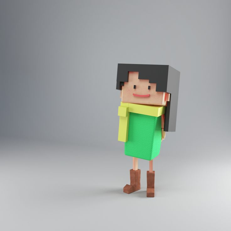 Low-Poly girl