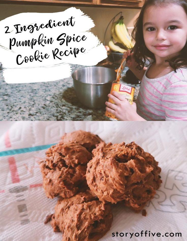 VIDEO: 2 Ingredient Pumpkin Spice Cookie Recipe Our favorite fall pumpkin spice recipe.