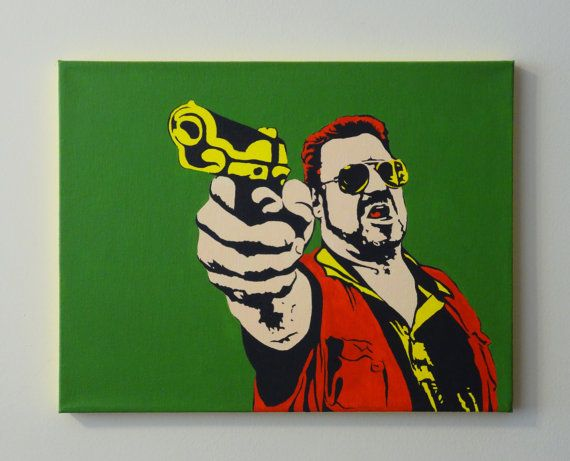 Hey, I found this really awesome Etsy listing at https://www.etsy.com/listing/125051433/the-big-lebowski-walter-sobchak-pop-art