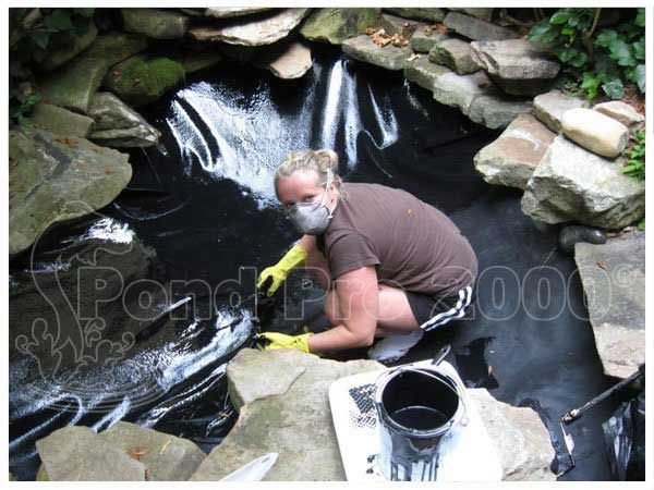 EPDM Liners for Pond leaks amd Fish Pond Repair. Pond pro 2000 is a 100% liquid EPDM and 100% compatable to your EPDM pond liner sold in pond supply stores.