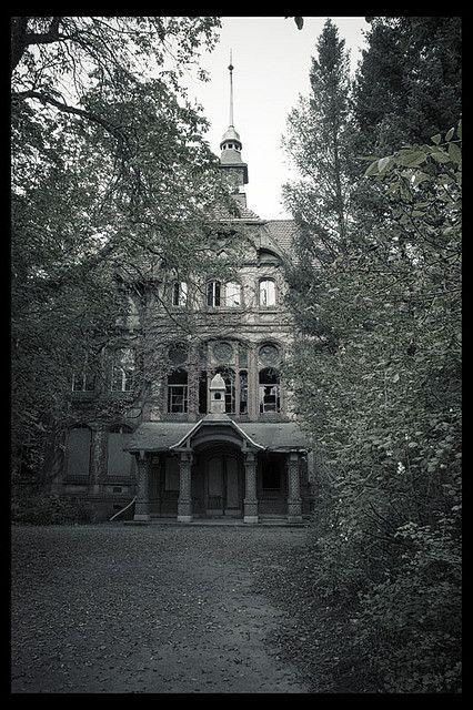 abandoned war hospital.