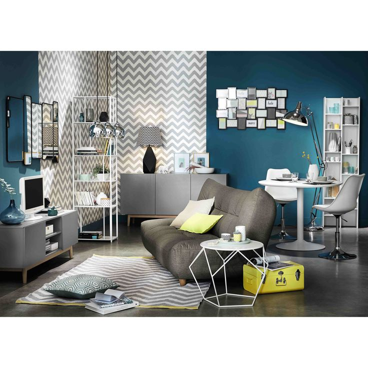 Canap convertible 3 places en tissu gris cloud maisons for Maison du canape