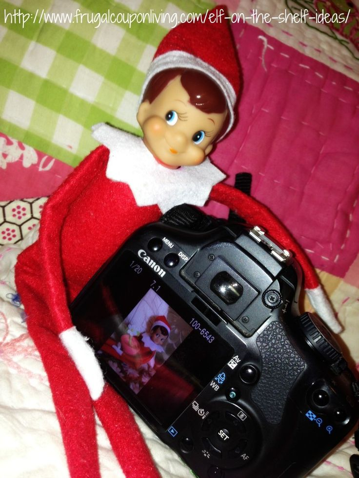 Elf on The Shelf Ideas – Say Cheese Elf Photo Shoot #ElfontheShelf #ElfontheShelfIdeas