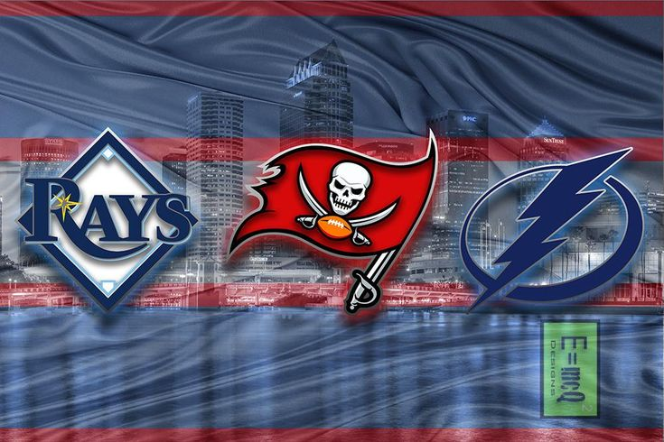 Tampa Bay Sports Teams Poster, Tampa Bay Buccaneers, Tampa Bay Lightni                      – McQDesign
