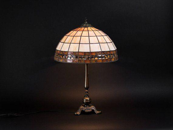 Tiffany shade shaby chic table lamp