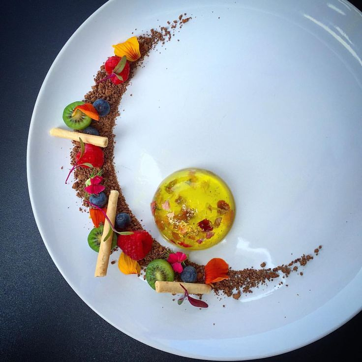 "Foodstarz on Instagram: ""Foodstar Nick Pitt (@royalebrat) shared a new image via Foodstarz PLUS /// Elderflower Jelly with Edible Flowers and Gold Flakes, Chocolate Soil, Kiwi Berries, Blueberries, Raspberries and Tube Tuile #dessert #gold #chocolate #kiwi #berries #foodstarz If you also want to get featured on Foodstarz, just join us, create your own chef profile for free, and start sharing recipes, images and videos. Foodstarz - Your International Premium Chef Network"""