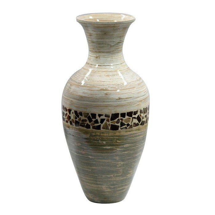 Roby Bamboo Floor Vase Floor Vase Vases Decor Wall Flower Vases
