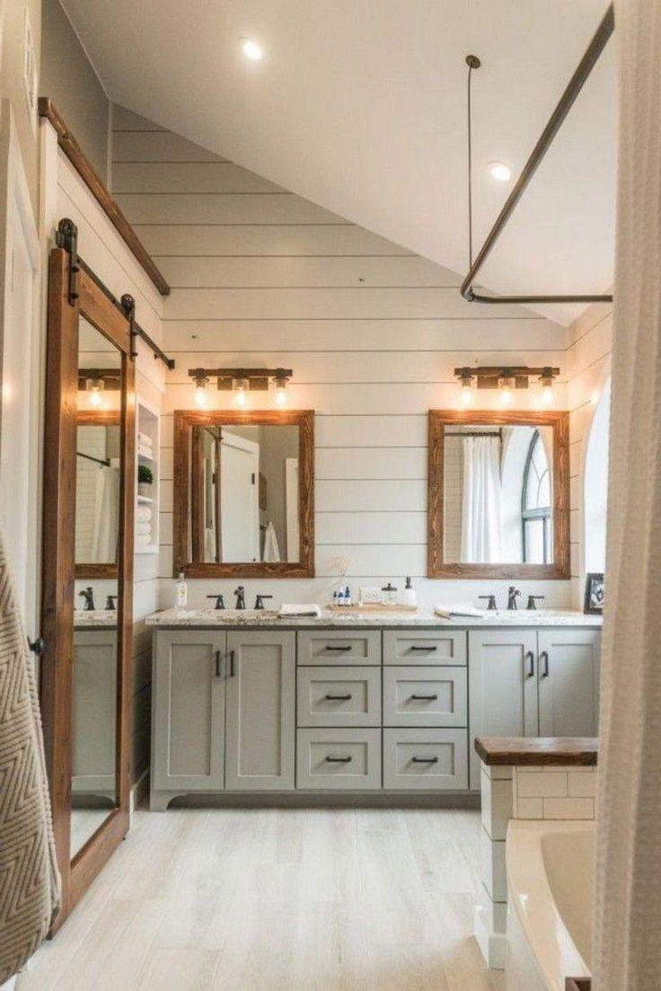 48 smart modern farmhouse bathroom remodel ideas
