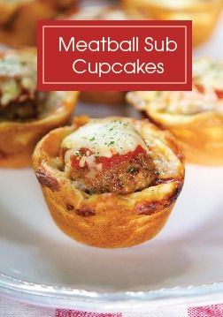 Get in the Italian mood for dinner tonight with these Meatball Sub Cupcakes.  Easy, quick appetizers that the kids won't be able to resist.