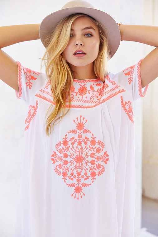 Little White Lies Embroidered Shift Dress