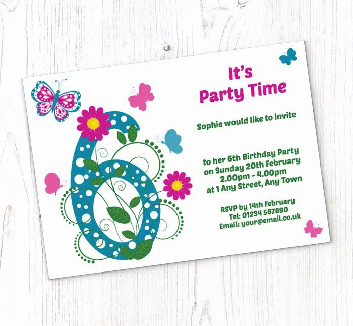 6th birthday invitation wording awesome