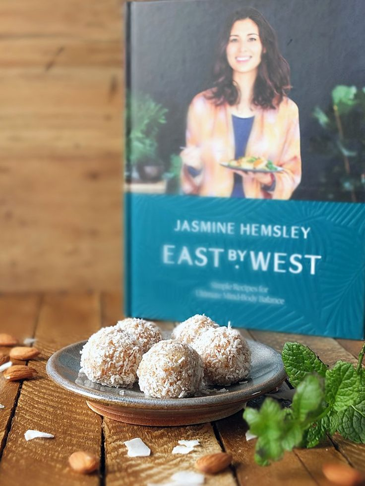 An Ayurvedic inspired energy ball recipe with coconut, lime and mint. Recipe from Jasmine Hemsley's East to West cookbook. #ad