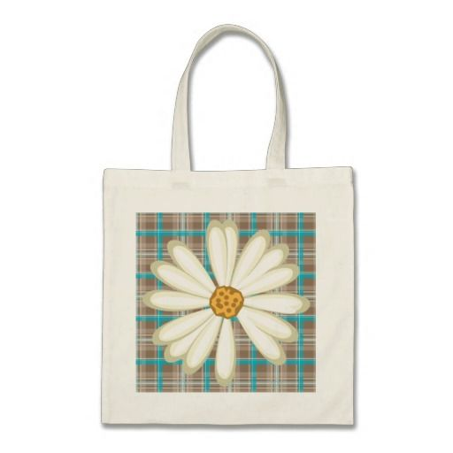 Daisy Baby Bag Grocery Plaid Pattern