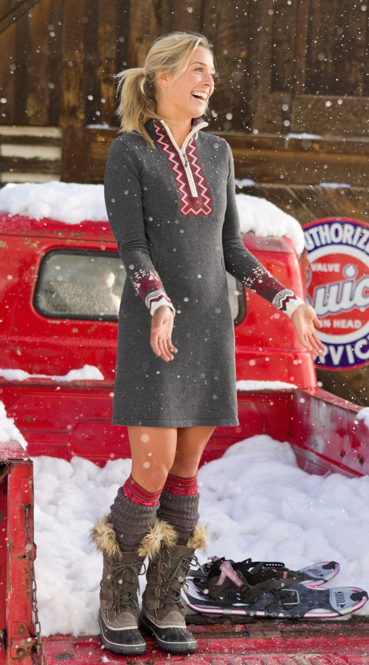 Snowcat Sweater Dress | Athleta Winter 2012 Collection...if only it went all the way to the knees.