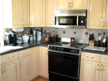 Kitchen Update On Pinterest Oak Cabinets Transitional Kitchen And