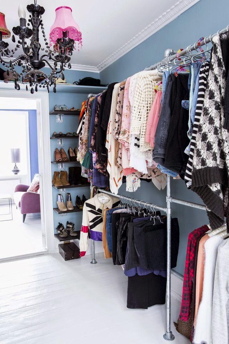 Ideas en vestidores para poder hacerlo en nuestra casa, la mejor forma de tener la ropa en orden.