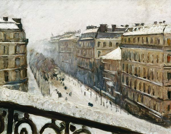 Gustave Caillebotte-Boulevard Haussmann in the Snow