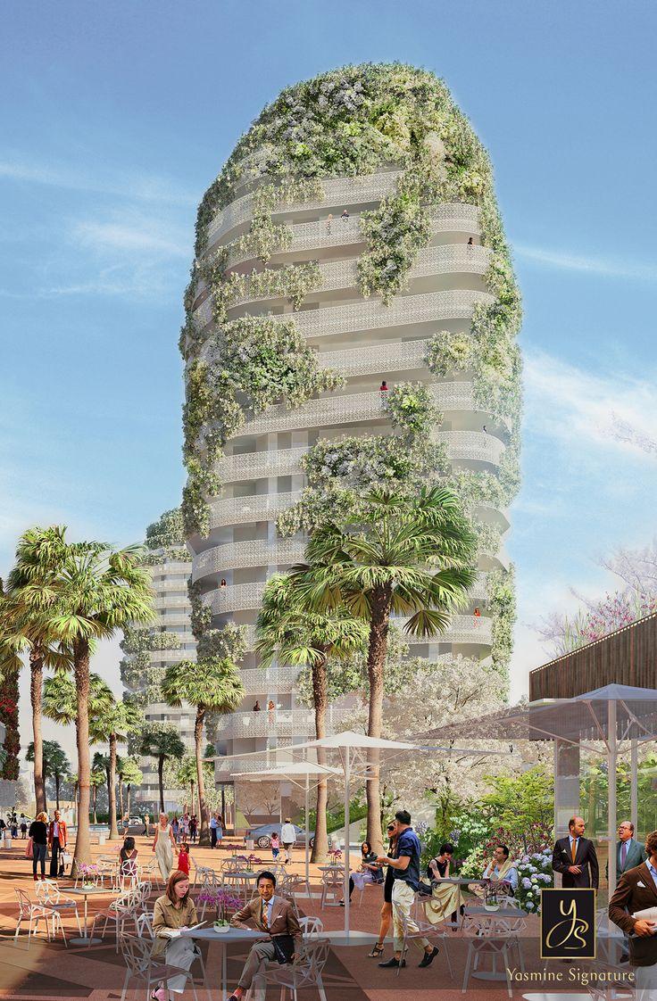 Les tours v g tales le bonheur de vivre sans vis vis un for Architecture organique