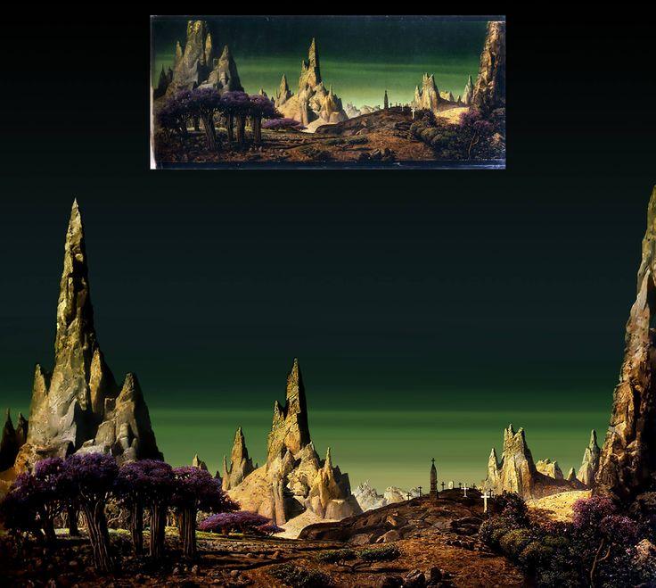 forbidden planet backdrop in Photoshop