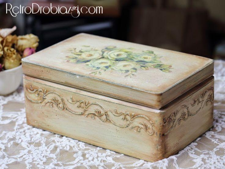 decoupage retro vintage box