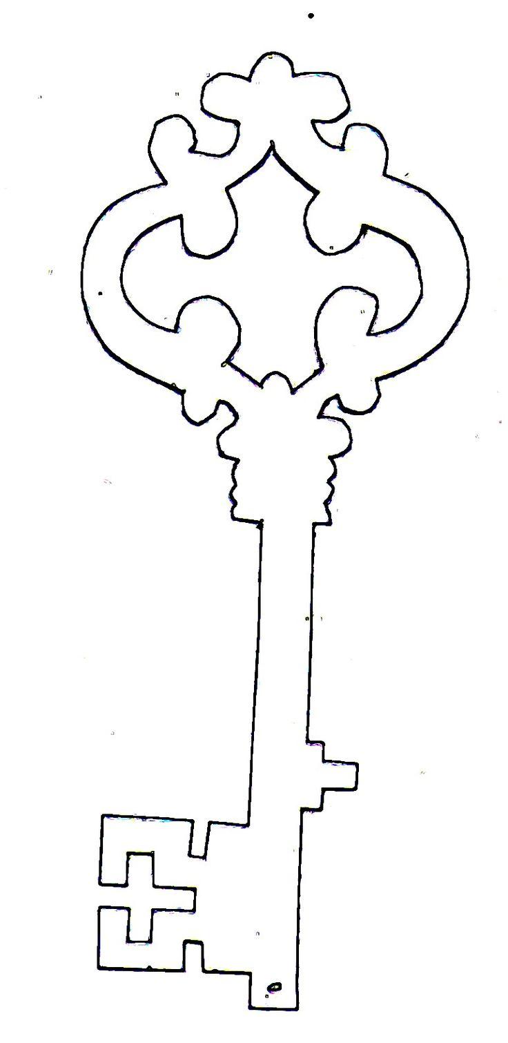 key.jpg (770×1580), free template for a skeleton key.
