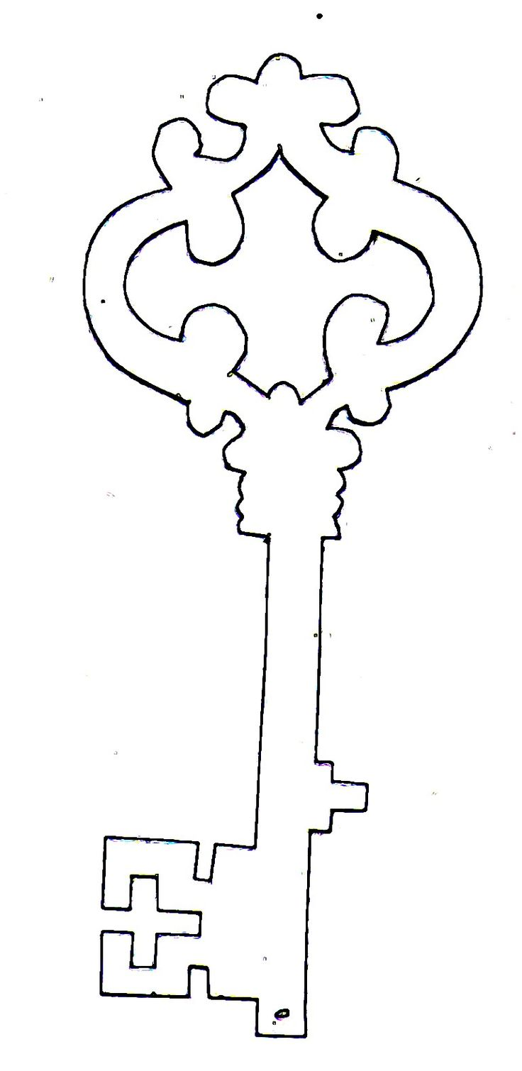 key.jpg (770×1580), free template for a skeleton key.