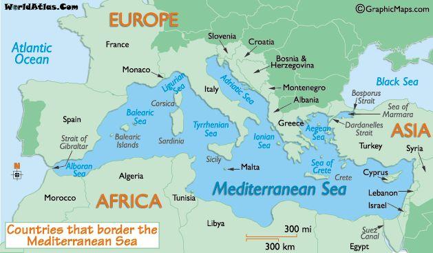 map of mediterranean - Google Search