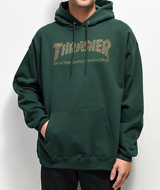 b90394ba3417 Thrasher Davis Forest Green Hoodie in 2019