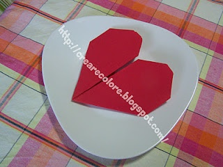 Tutorial Blog & YouTube   ♥ Napkin heart for the day dedicated to love