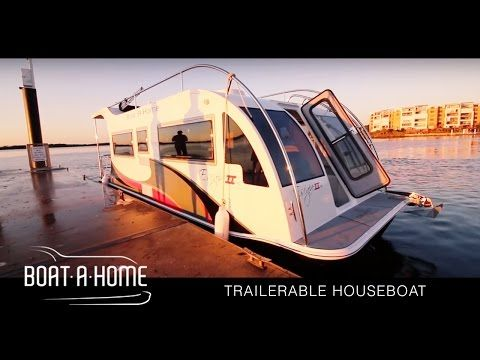 Boat A Home - Escape 2 | Trailerable Houseboat | Chris Conroy Feature - YouTube