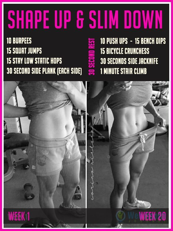 A #workout to help you slim down and shape up. #fitness