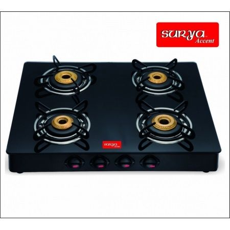 Mebelkart is offering Surya Accent 4 Burner Glass Top Gas Stove @ Rs 2249 How to catch the offer: Click here for offer page Add Surya Accent 4 Burner Glass Top Gas Stove  in your cart Login or Register Apply offer code MKHOME25 Fill the shipping details Make final payment