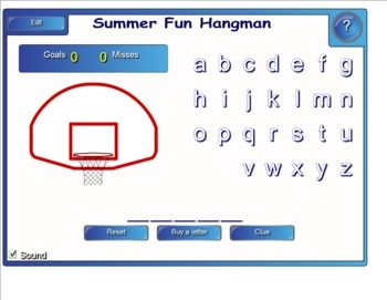 This is a guess the word game similar to hangman.  There are 10 games and 3 themes