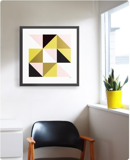 Paint chip art always looks modern and is sooooo easy!