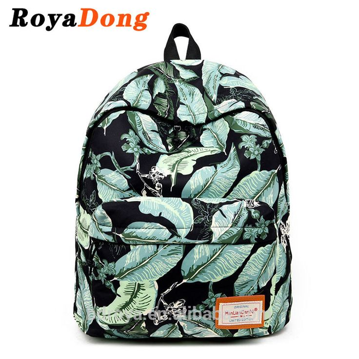 Royadong 217 New Korean Style Fashion Trend Personality Printing Fabric Young Ladies Backpacks