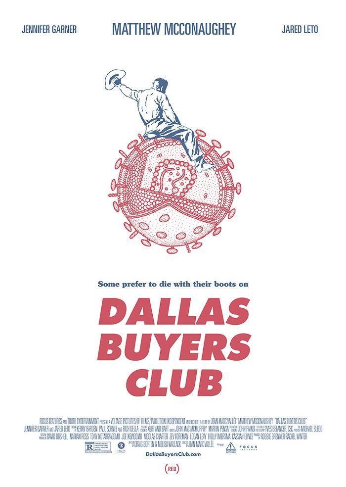 Dallas Buyers Club by Fernando Morgado - Home of the Alternative Movie Poster -AMP-