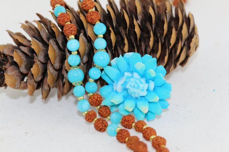 Vishudda chakra*Halsschakra mala*Blue akasha*Energetische Halskette*Jade*Rudraksha Samen*Tränen Shivas*108* Reines chakra von MoONAmasteWithLove auf Etsy