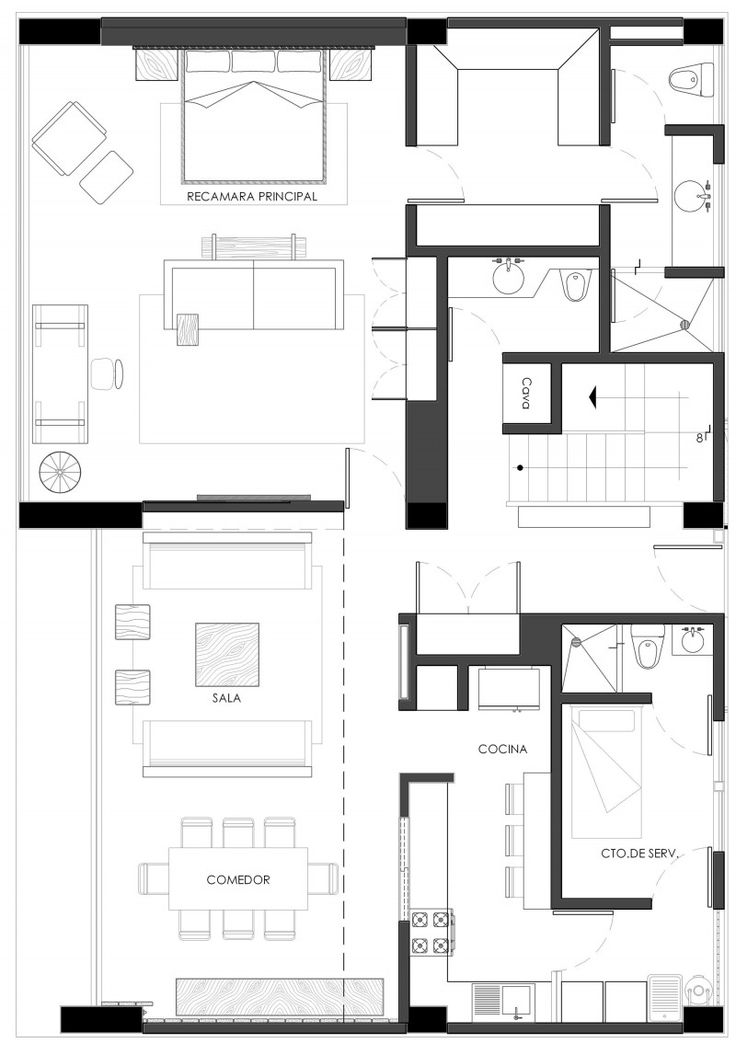58 best cad blocks images on pinterest architecture for Apartment plans cad