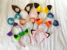 Pokemon Party Favors: made ears out of felt and headbands from Target.