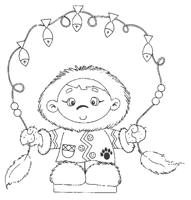 49 best Eskimo colouring pages/stock images/illustrations
