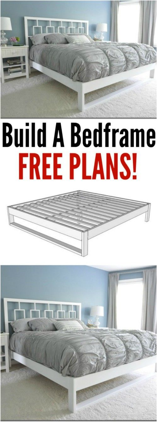 Simple White Bed Frame