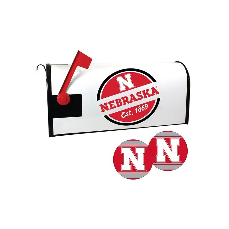 Nebraska Cornhuskers Magnetic Mailbox Cover & Decal Set, Multicolor