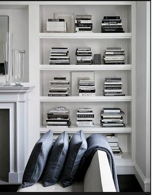 Clean & Organized. OCD Book shelves!