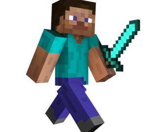 Minecraft clipart steve diamond armor - ClipartFest