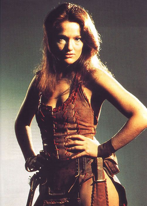 Leela traveled with the Fourth Doctor. She was intensely protective of him, taught us about the Janis thorn's poison, and fell in love with another Time Lord.
